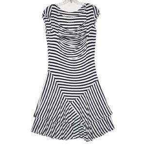 Soft Surroundings Navy & White Striped Dress Med.